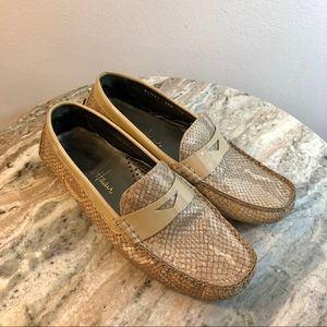 Cole Haan size 6.5 loafers beige leather